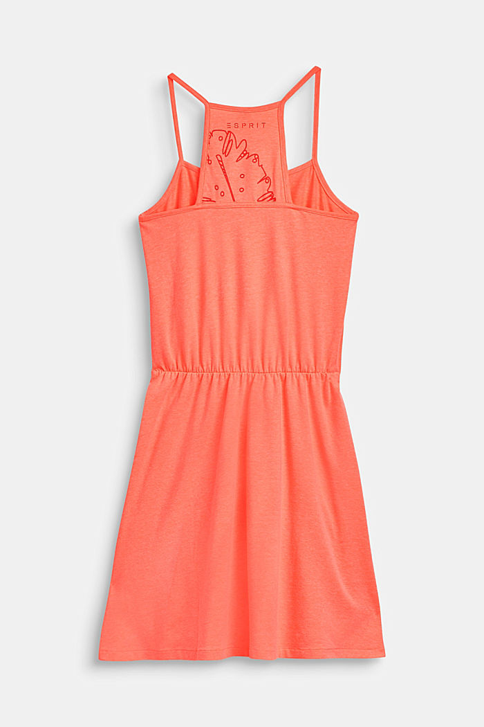 Schulterfreies Jersey-Kleid mit Glitzer-Print, LCNEON CORAL, detail image number 1