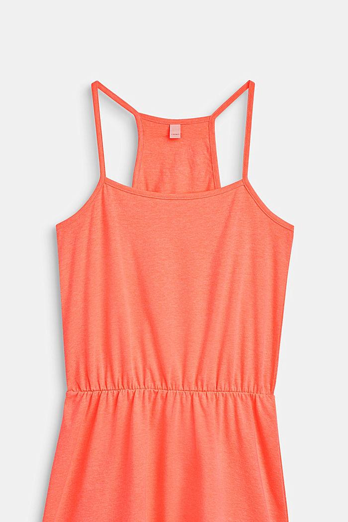 Schulterfreies Jersey-Kleid mit Glitzer-Print, LCNEON CORAL, detail image number 2
