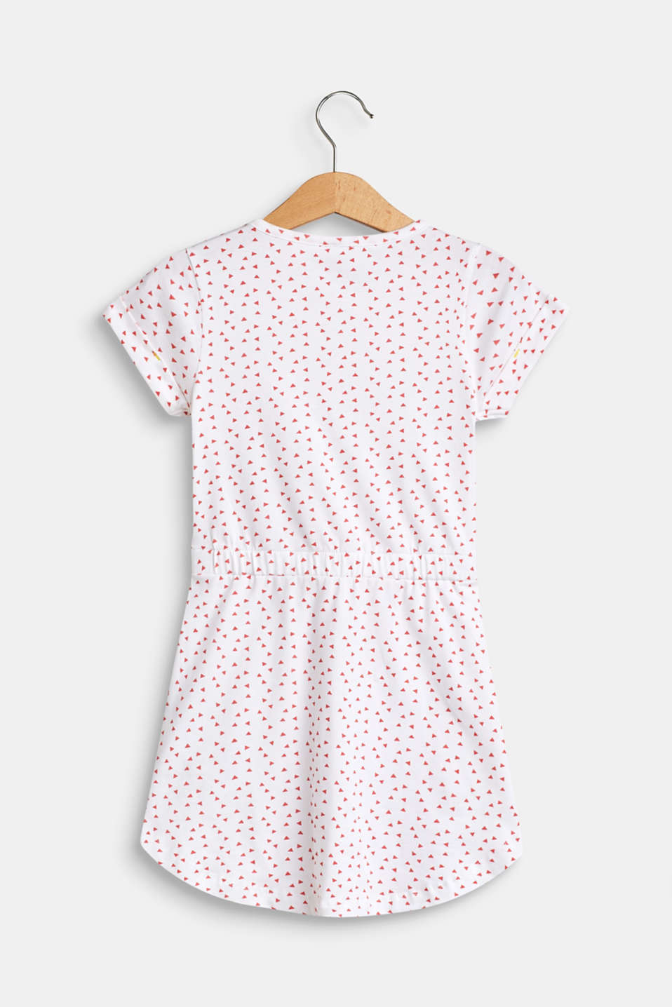 Patterned jersey dress made of stretch cotton, WHITE, detail image number 1