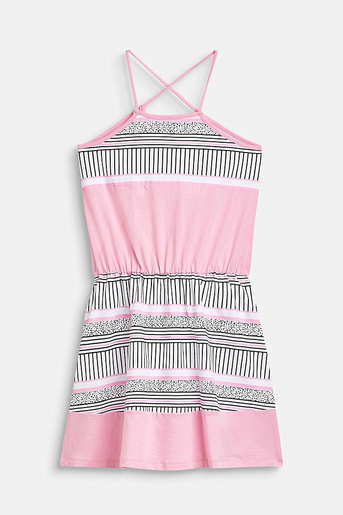 Jersey-Kleid mit Muster-Print, Baumwoll-Stretch, LCCANDY PINK, detail image number 1