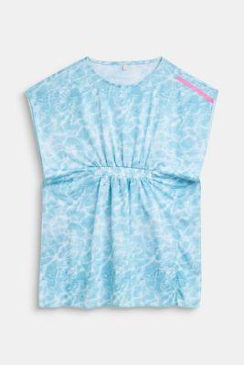 Tunic dress in a batik look, LCICE BLUE, detail