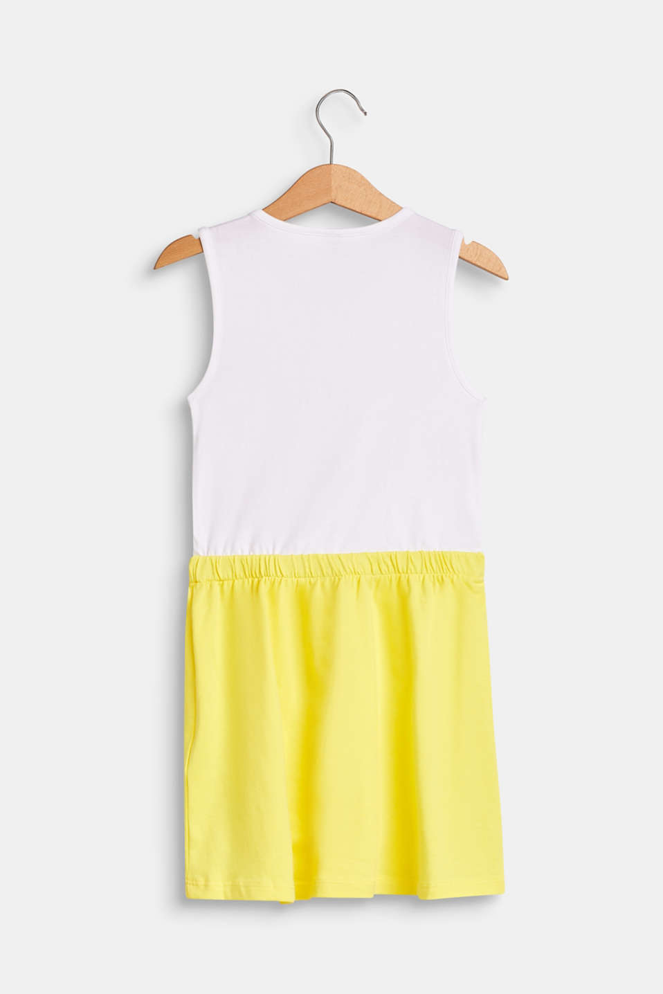 Jersey dress with an ice cream print, stretch cotton, WHITE, detail image number 1