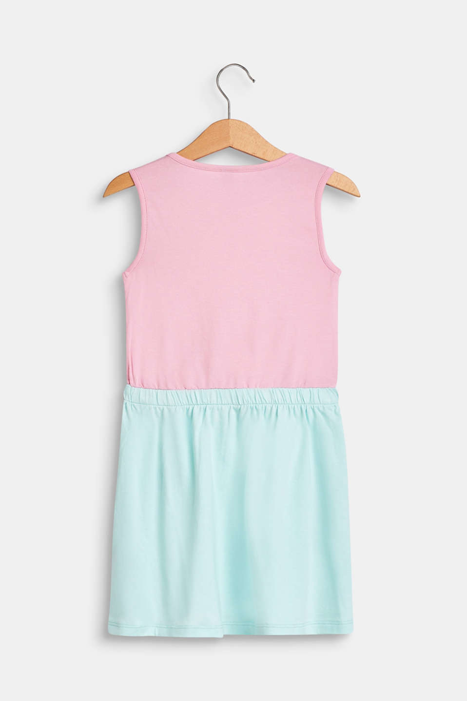 Jersey dress with an ice cream print, stretch cotton, CANDY PINK, detail image number 1