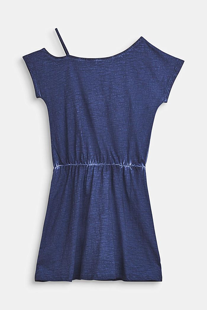 Sukienka w ciekawych barwach, 100% bawełny, LCNIGHT BLUE, detail image number 1