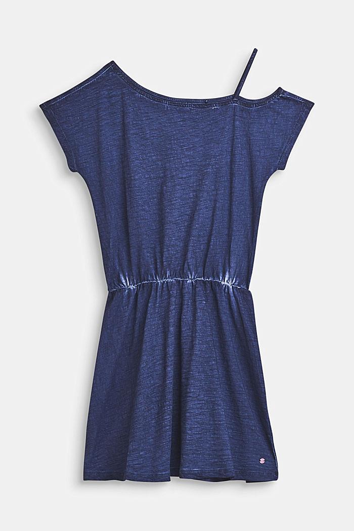 Sukienka w ciekawych barwach, 100% bawełny, LCNIGHT BLUE, detail image number 0