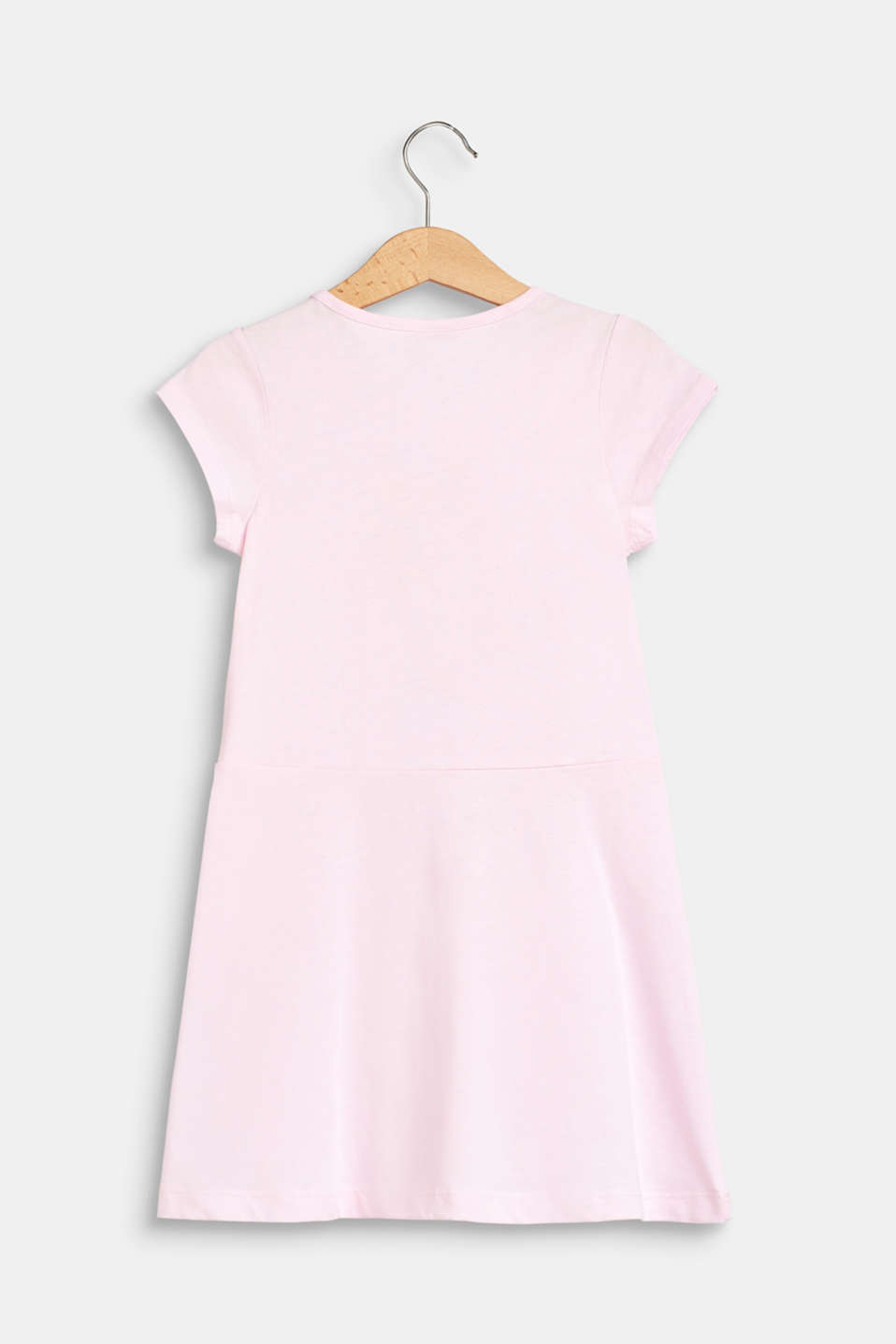 Stretch jersey dress with glitter print, BLUSH, detail image number 1