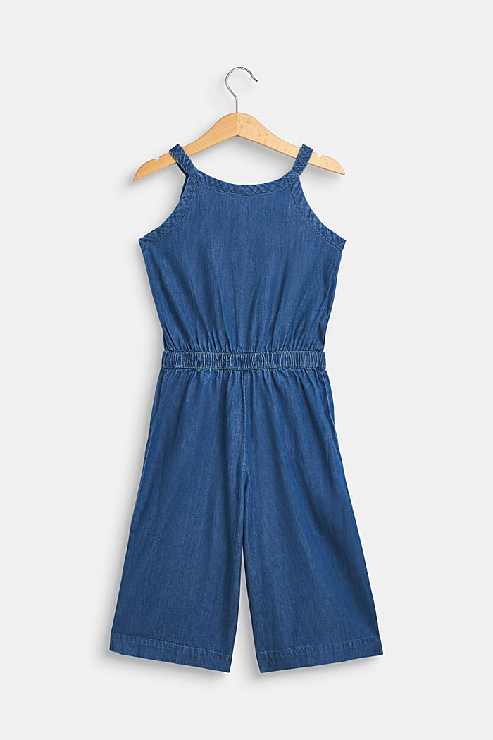 Jumpsuit in lightweight denim, 100% cotton, MEDIUM WASH DE, detail image number 1