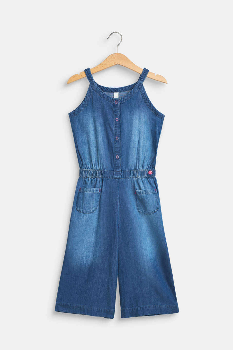 Esprit - Jumpsuit in lightweight denim, 100% cotton