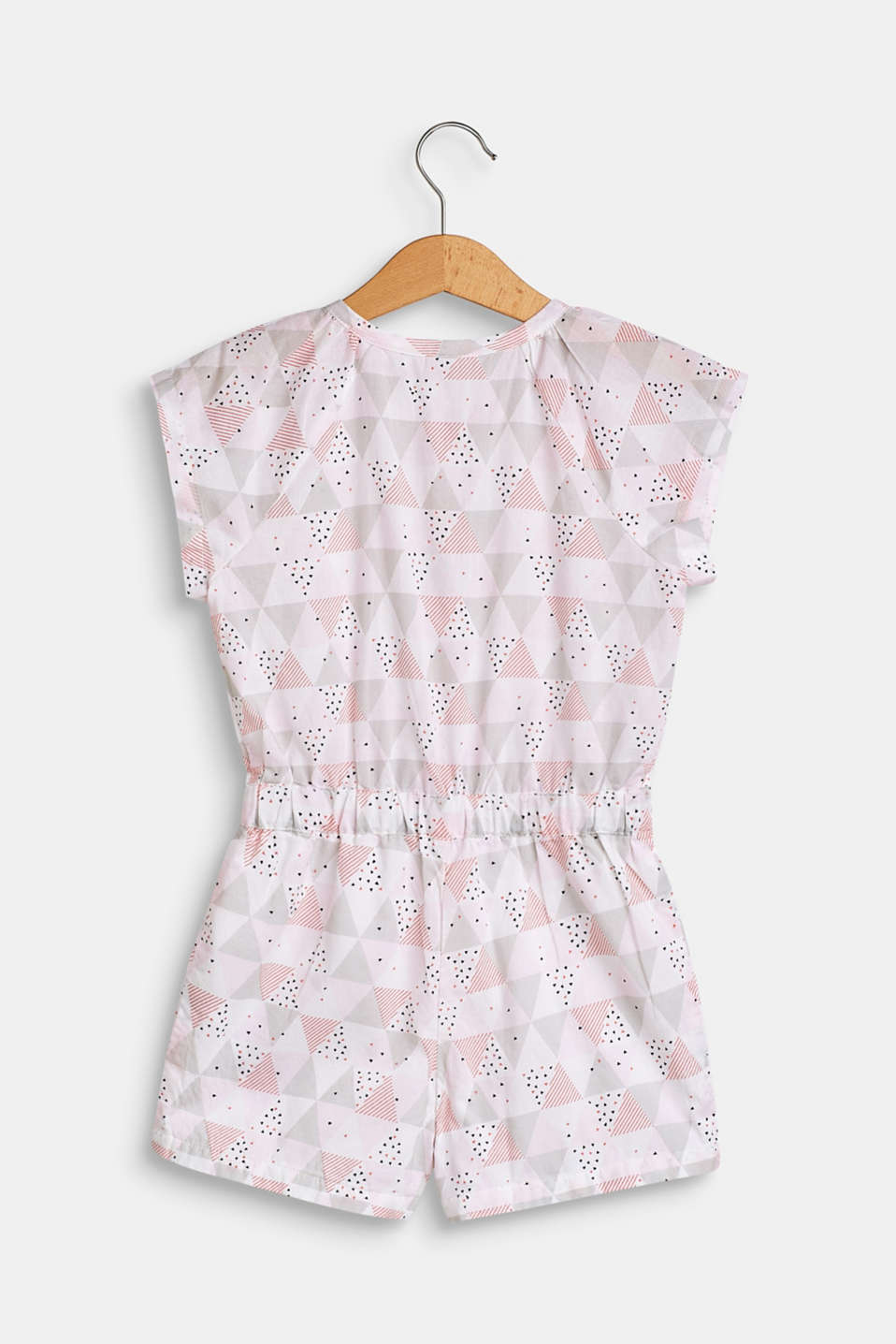 Patterned jumpsuit in 100% cotton, WHITE, detail image number 2