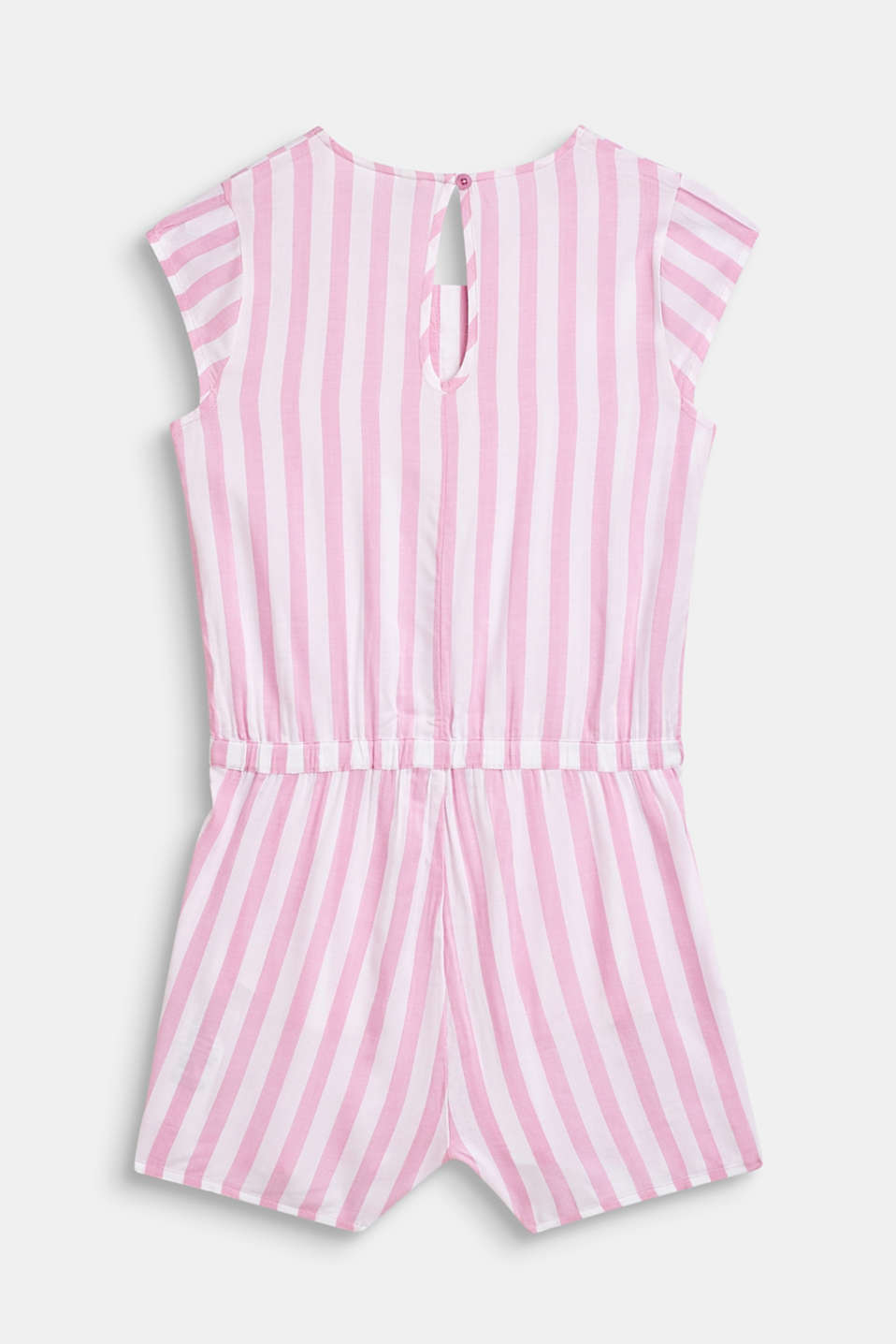 Woven playsuit with stripes, LCCANDY PINK, detail image number 1