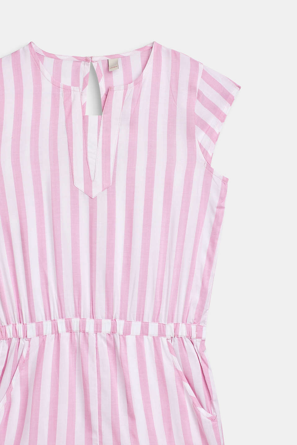Woven playsuit with stripes, LCCANDY PINK, detail image number 2