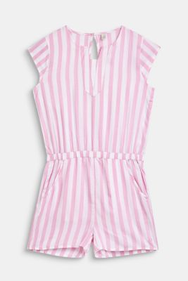 Woven playsuit with stripes, LCCANDY PINK, detail