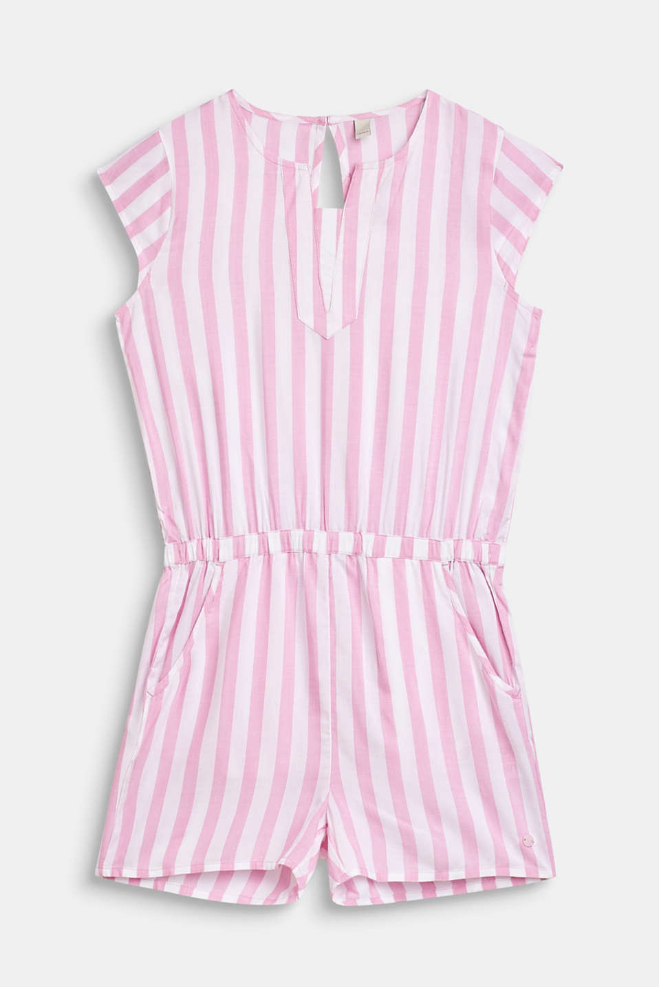Esprit - Woven playsuit with stripes