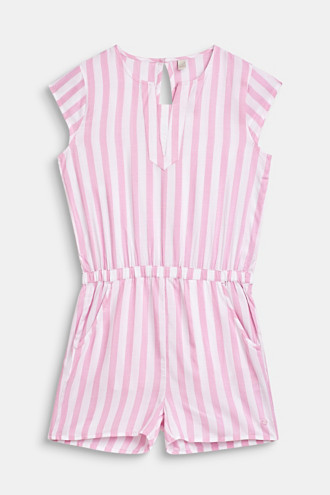 Woven playsuit with stripes