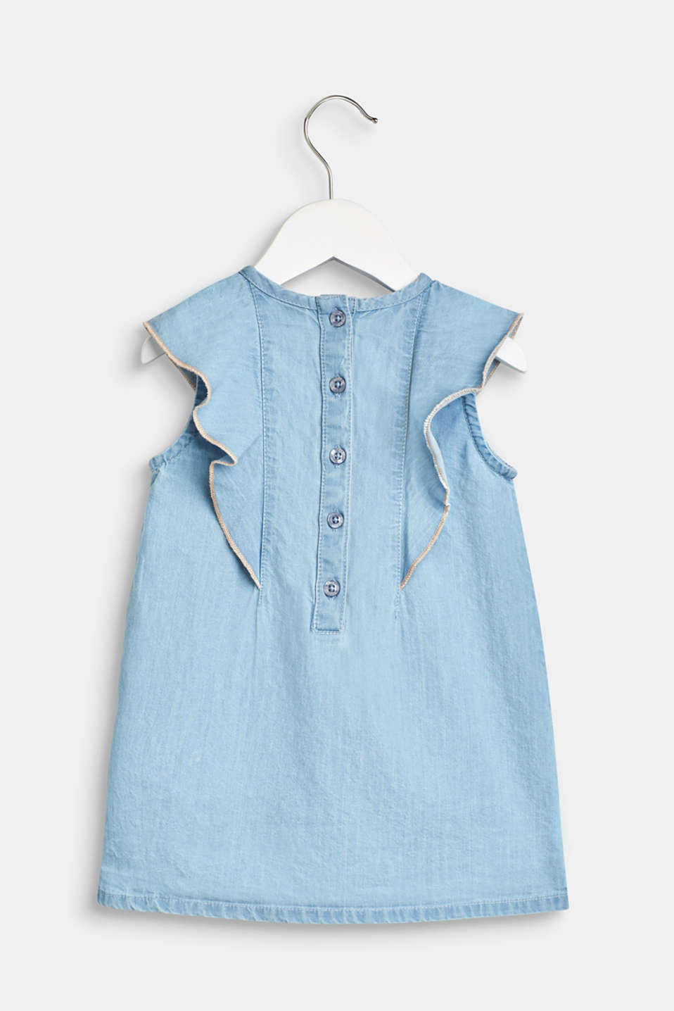Dress in a denim look, 100% cotton, LCBLUE LIGHT WAS, detail image number 1