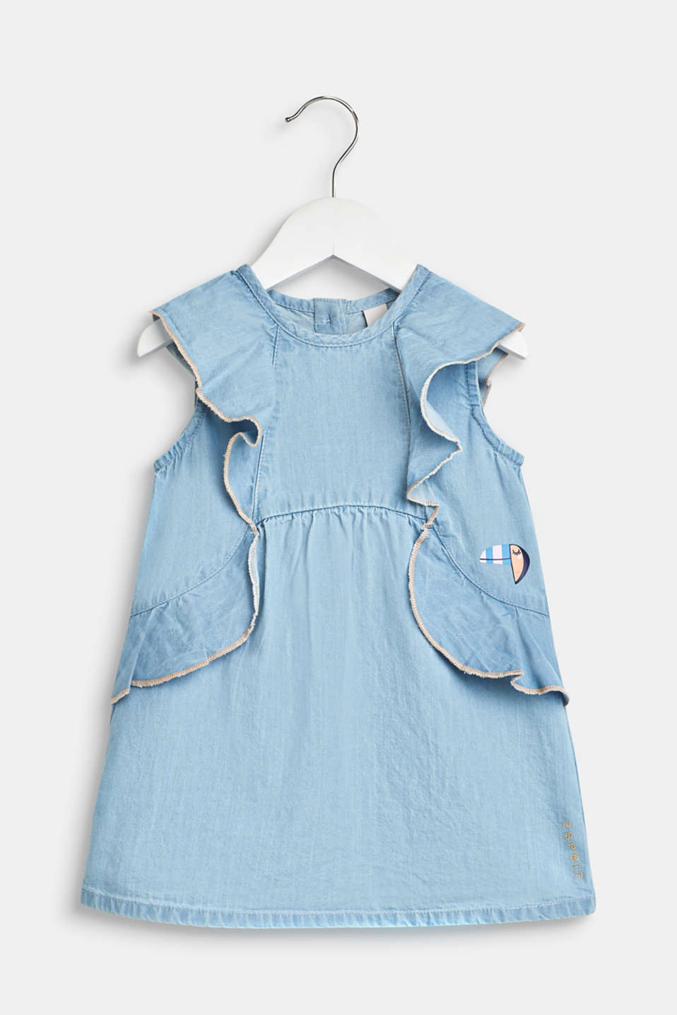 Esprit - Kleid in Denim-Optik, 100% Baumwolle
