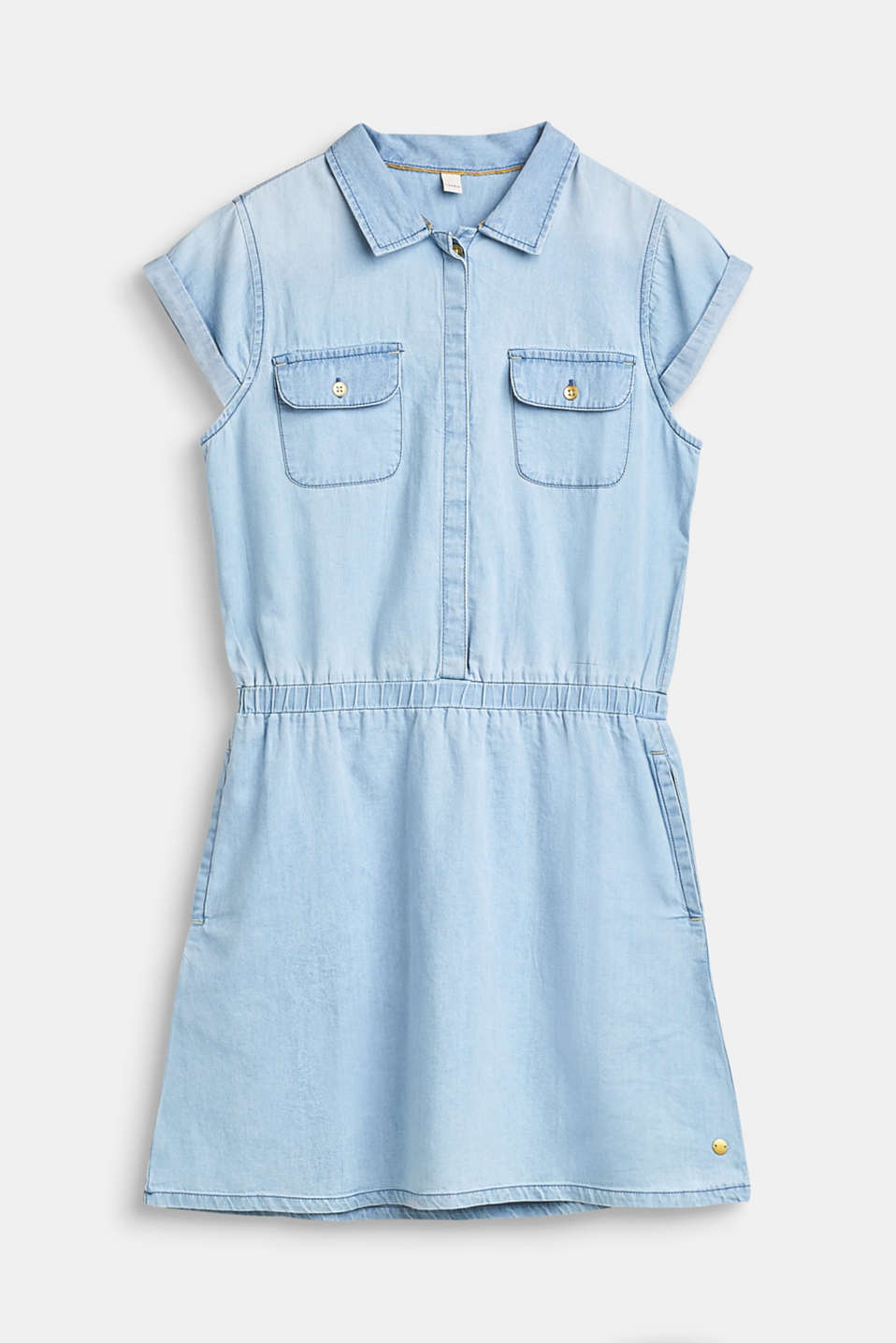 Esprit - Denim dress in 100% cotton