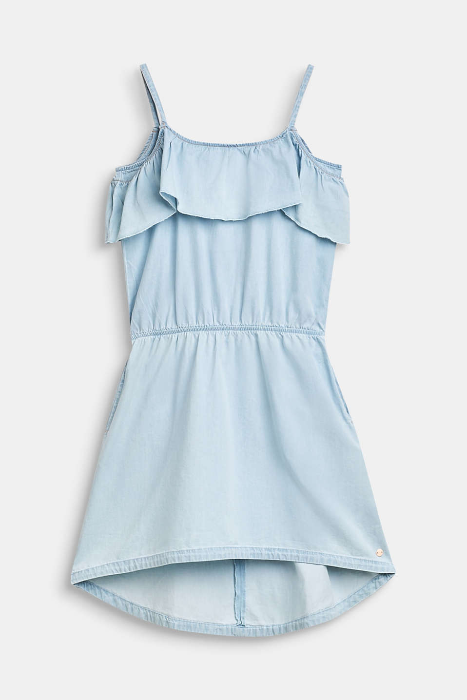 Esprit - Off-the-shoulder denim dress in 100% cotton