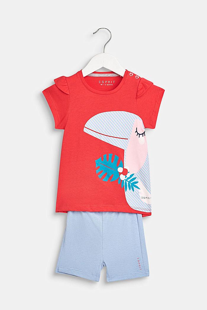 Set van een T-shirt en een short, 100% katoen, LCWATERMELON, detail image number 0