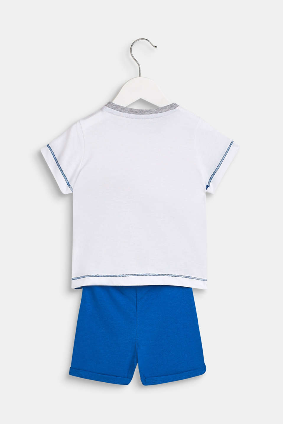 Set: T-shirt and shorts made of 100% cotton, LCWHITE, detail image number 1