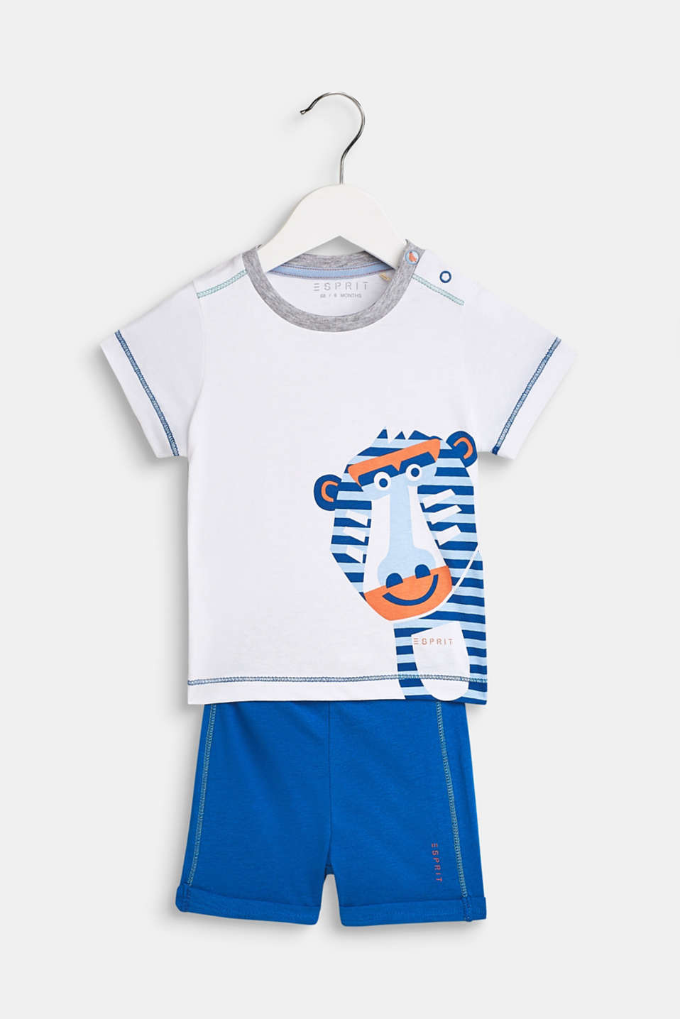 Set: T-shirt and shorts made of 100% cotton, LCWHITE, detail image number 0
