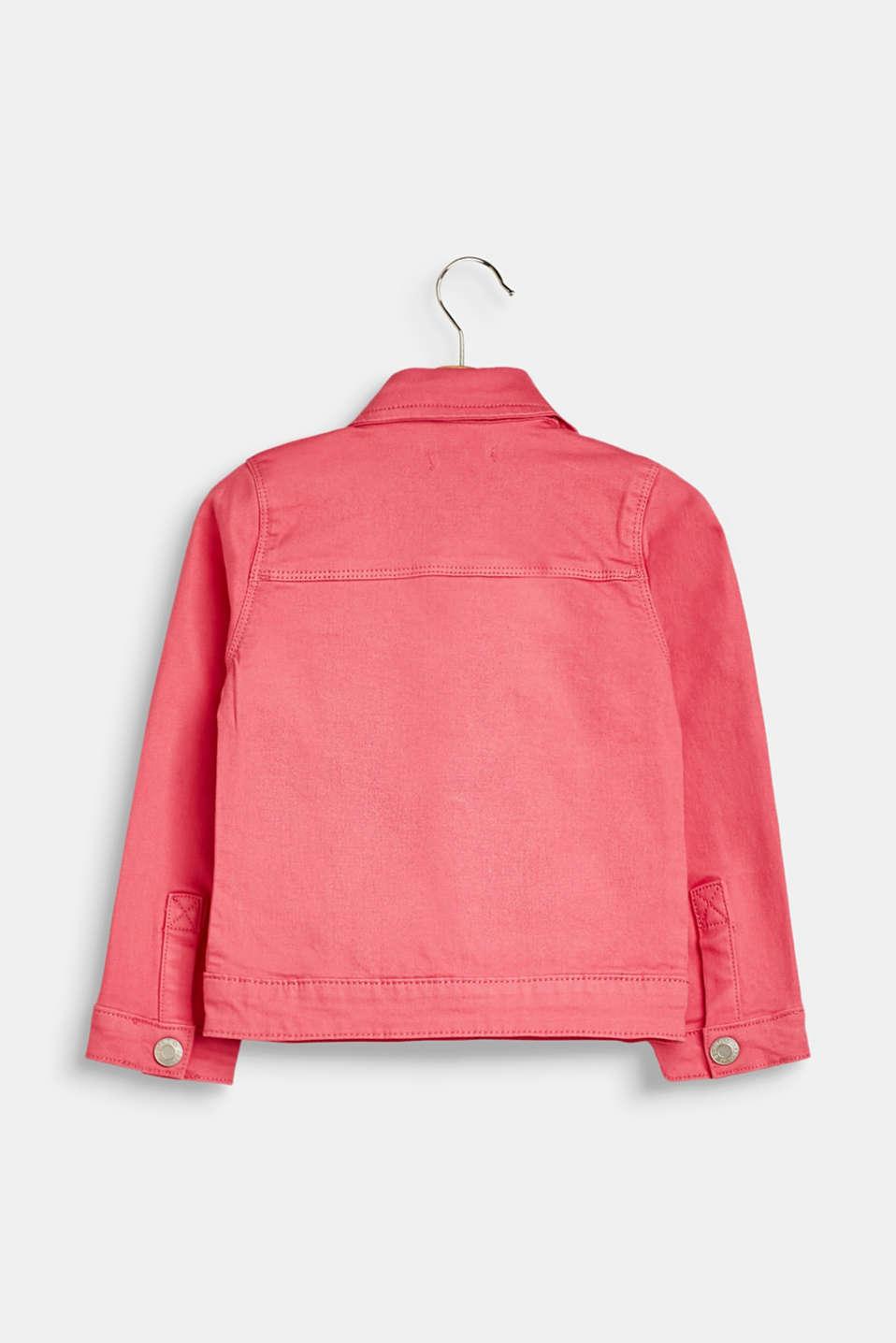 Jackets outdoor denim, LCDARK PINK, detail image number 1
