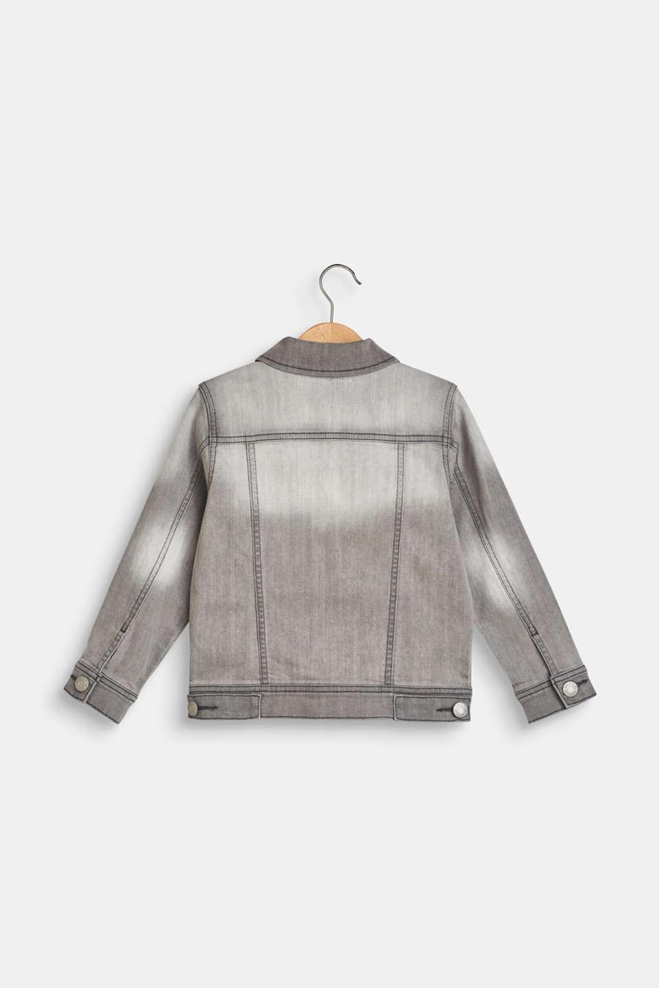 Jackets outdoor denim, LCLIGHT GREY DEN, detail image number 1