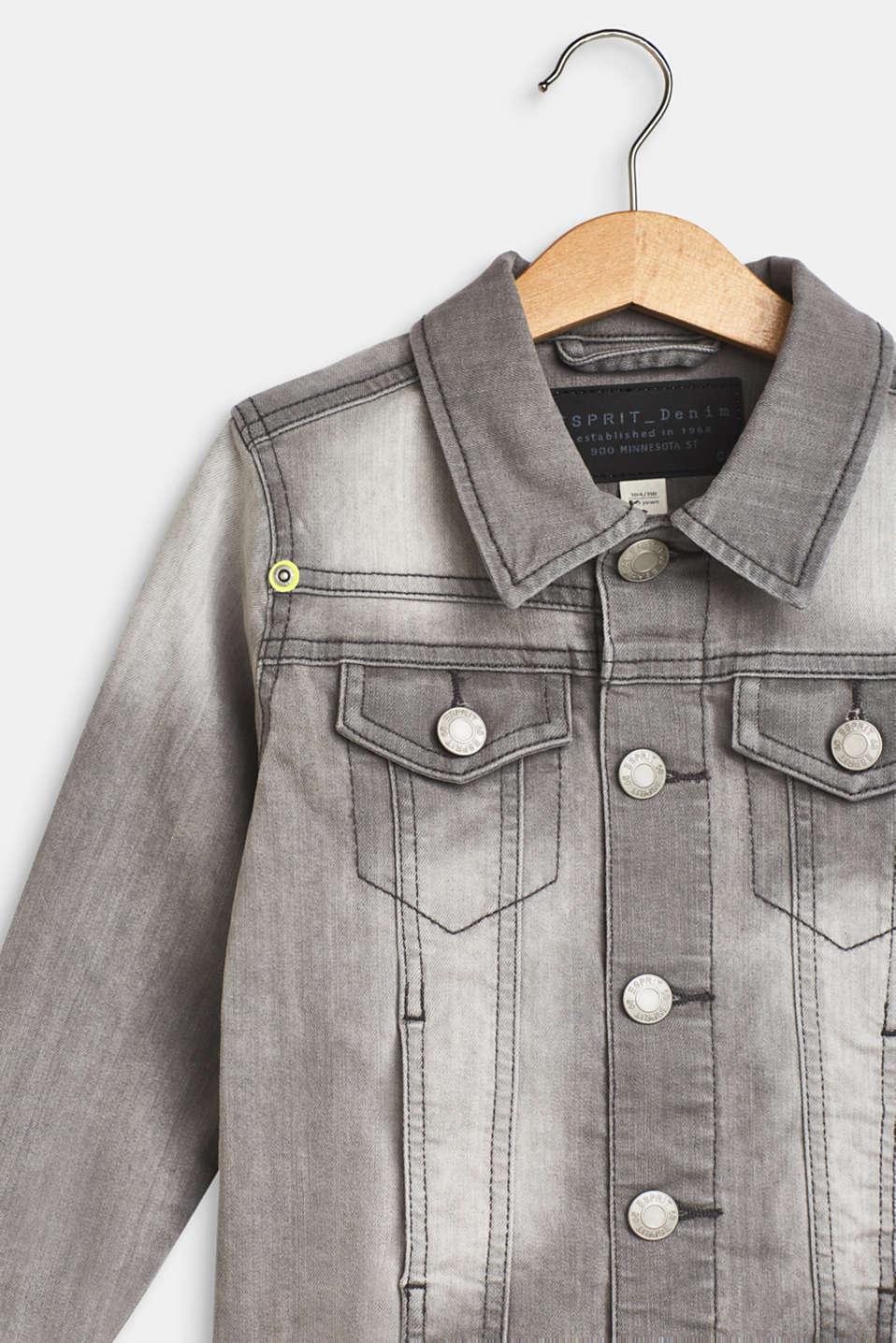 Jackets outdoor denim, LCLIGHT GREY DEN, detail image number 2