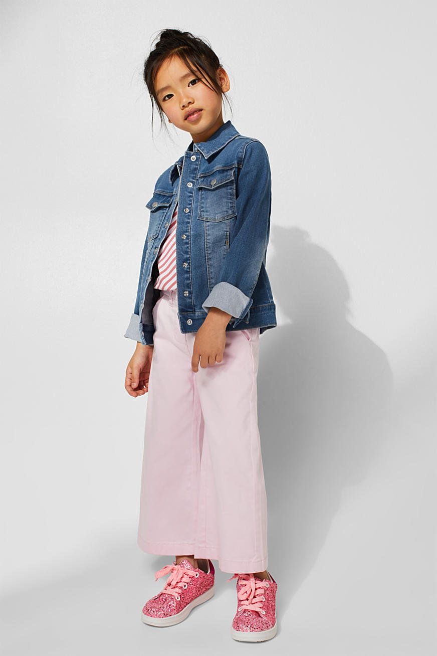 Denim jack met stretch en garment-washed effecten