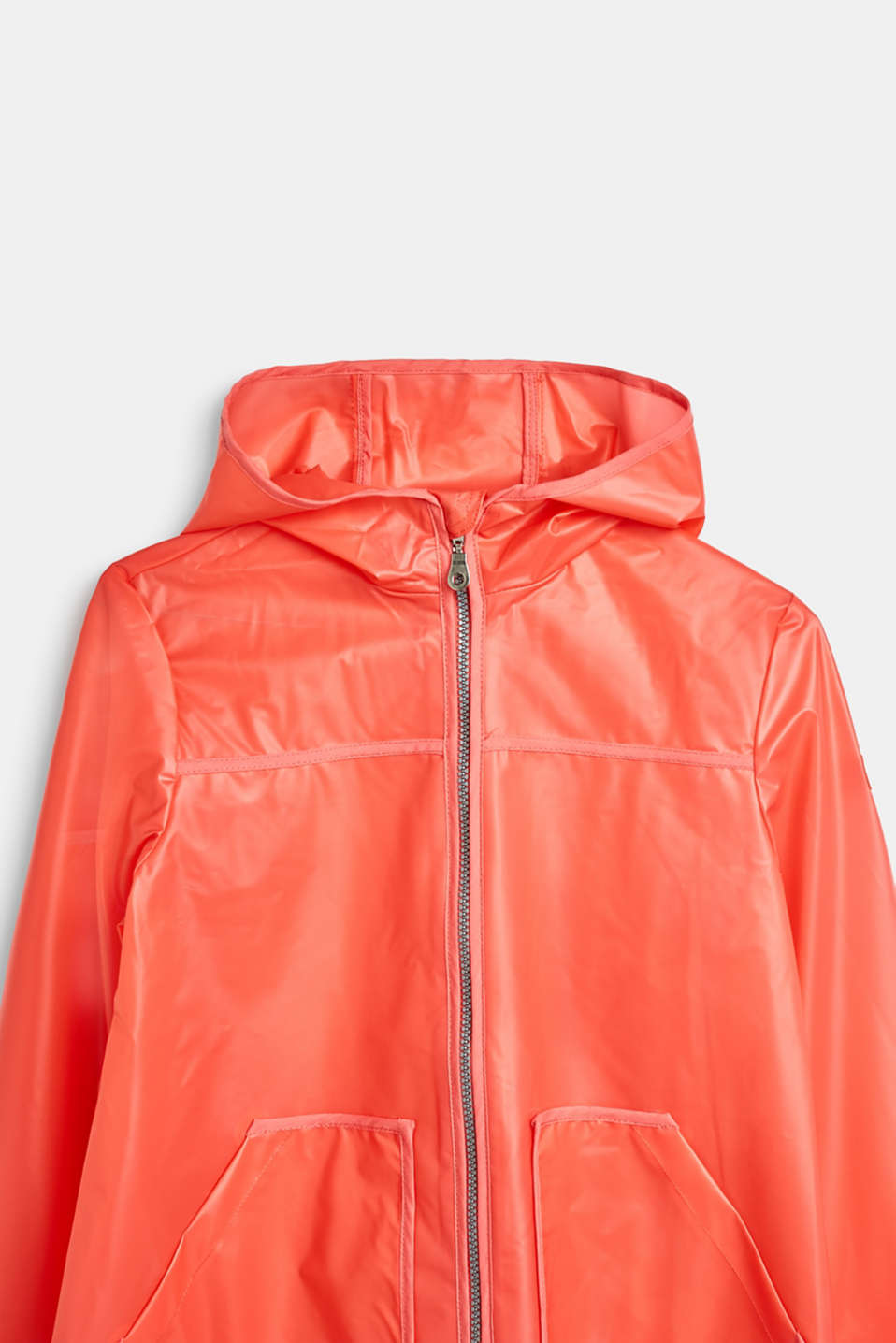 Rain jacket with hood, LCCORAL, detail image number 3