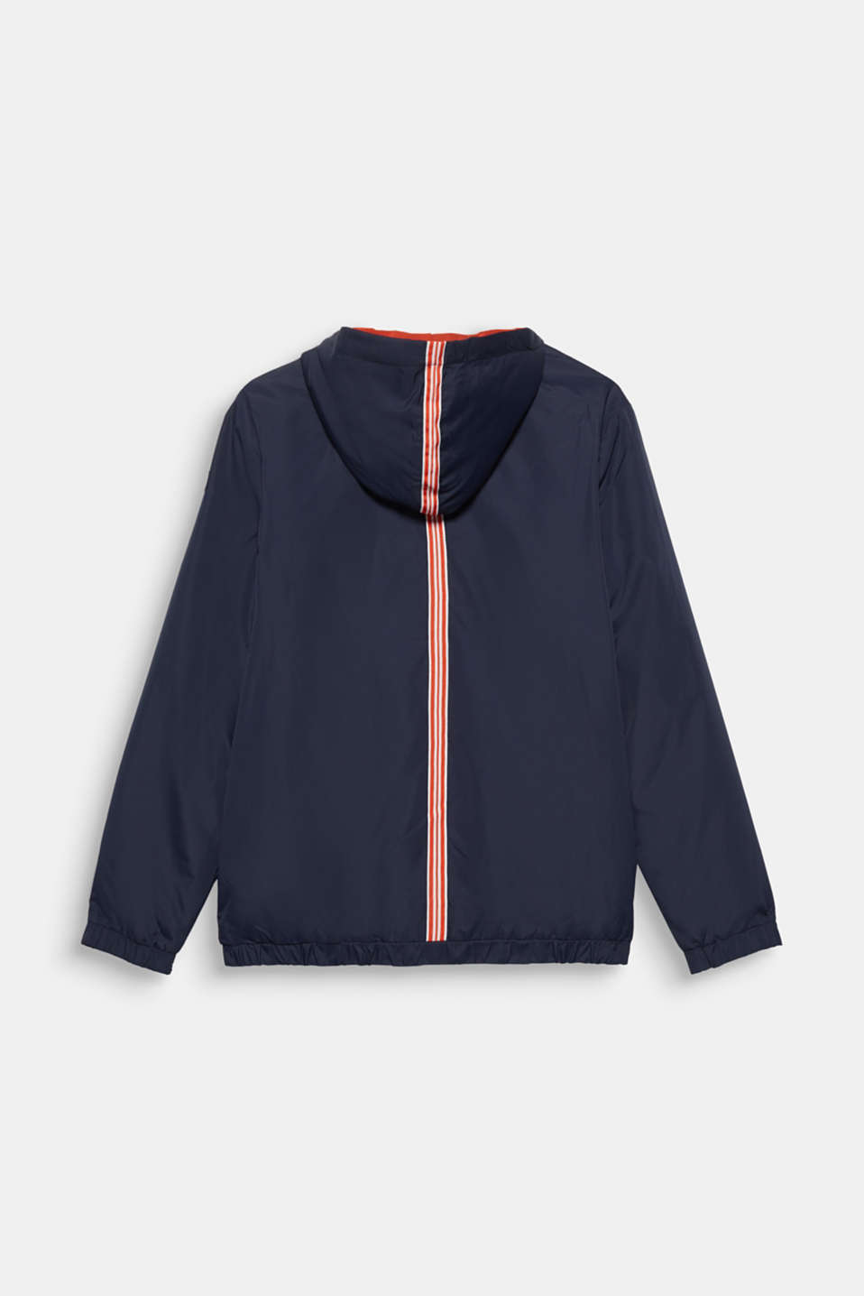 Stripe detail windcheater with light padding, LCNAVY BLUE, detail image number 1