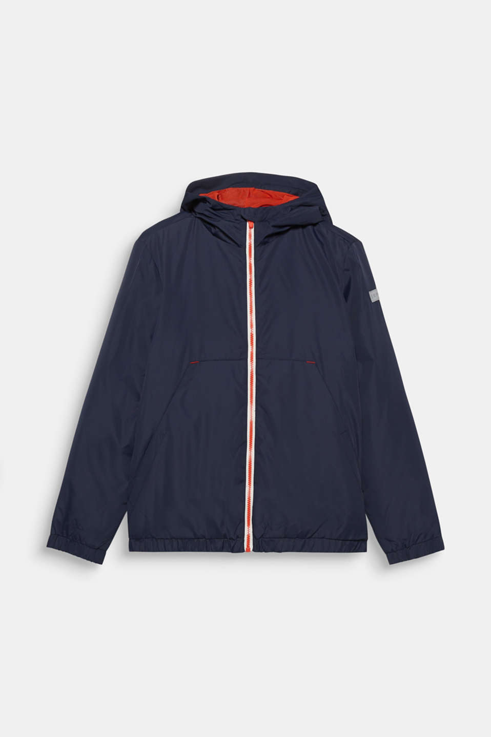 Stripe detail windcheater with light padding, LCNAVY BLUE, detail image number 0
