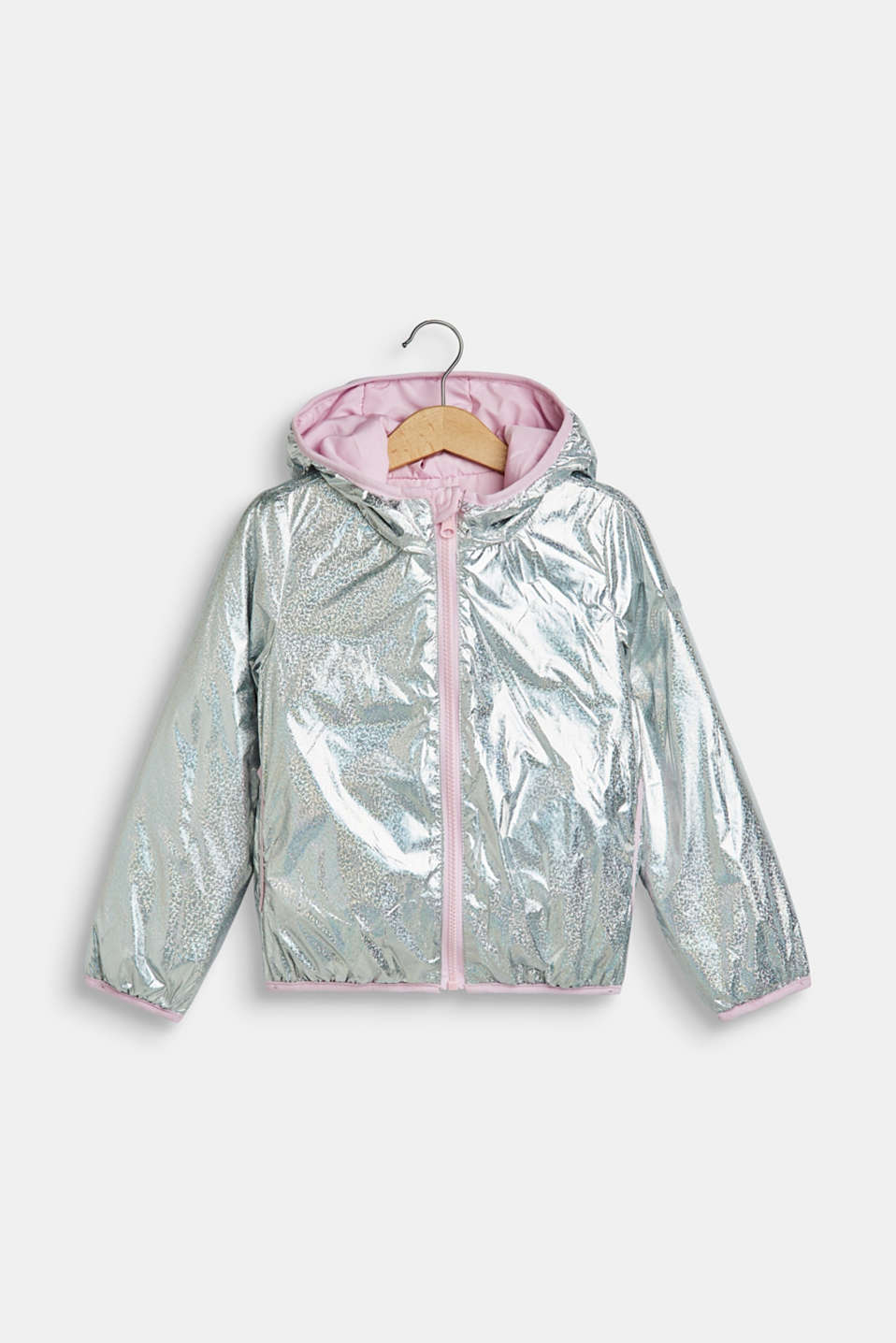 Lightly padded reversible jacket, SILVER, detail image number 0
