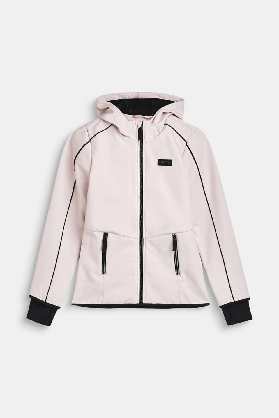 Esprit - Softshell jacket with hood and fleece lining