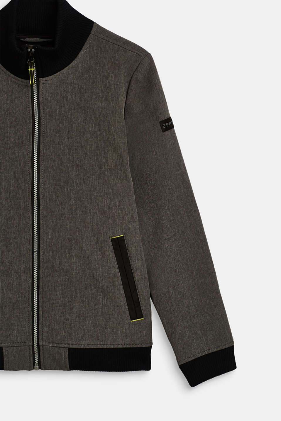 Softshell jacket with fleece lining, LCMID HEATHER GR, detail image number 2