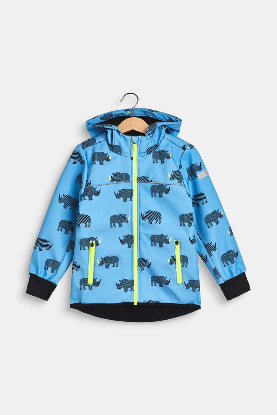 Esprit - Softshell jacket with print and fleece lining