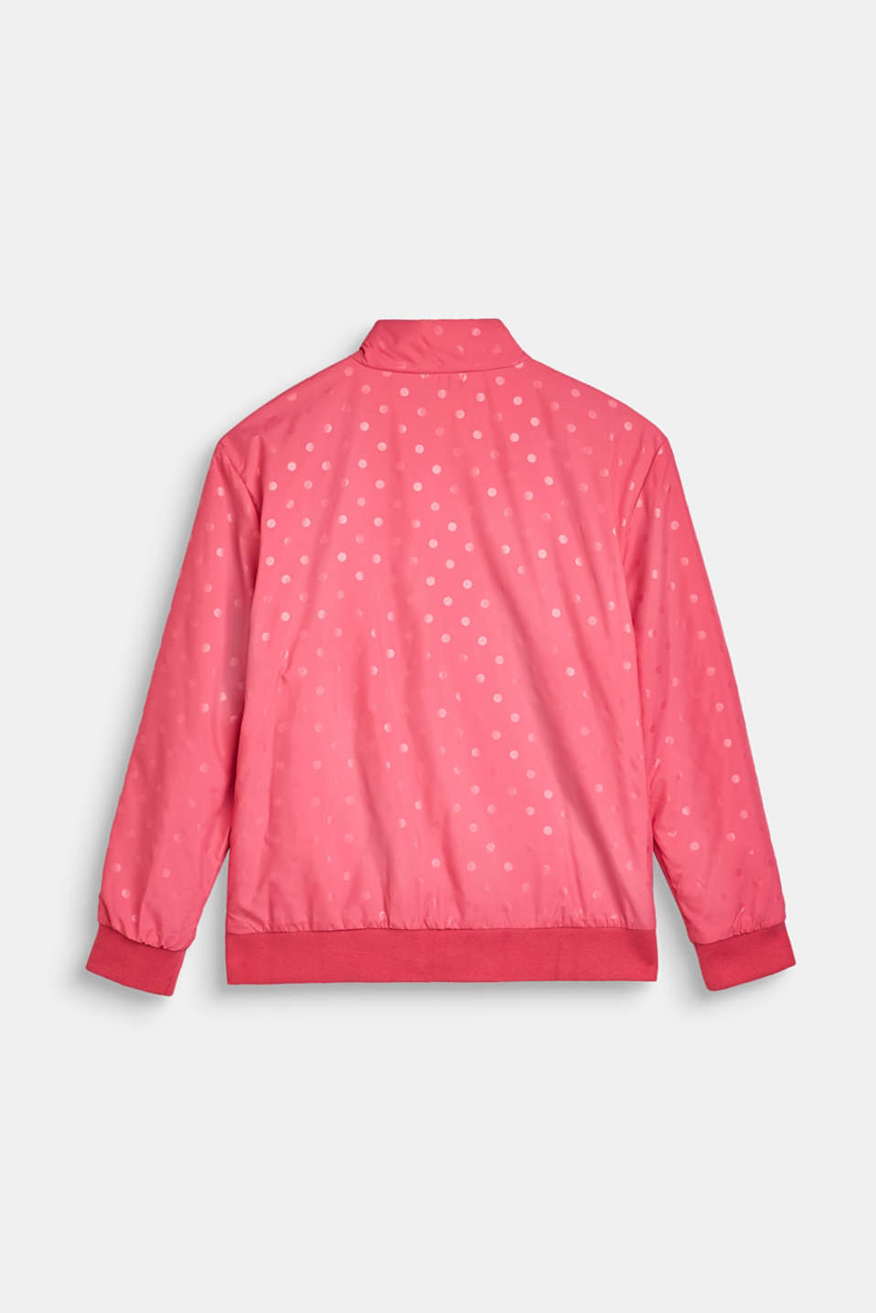 Lightly padded nylon jacket with a polka dot print, LCDARK PINK, detail image number 1