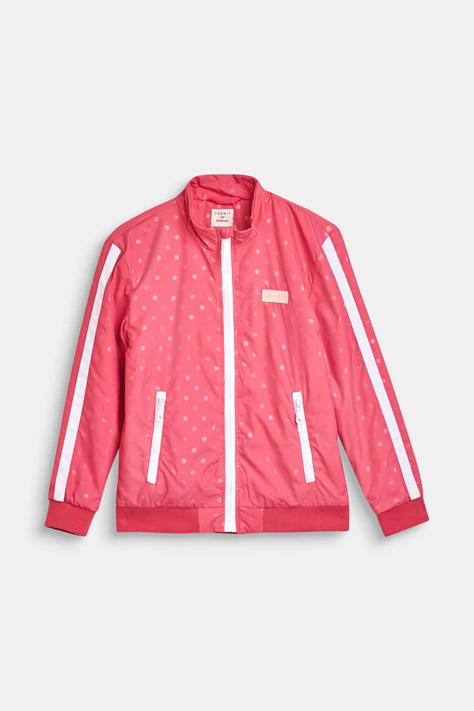 Esprit - Lightly padded nylon jacket with a polka dot print