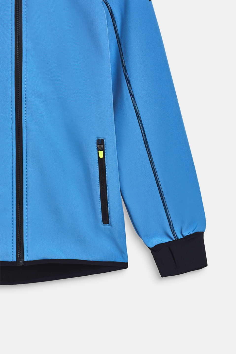 Softshell jacket with a hood, LCAZUR BLUE, detail image number 4