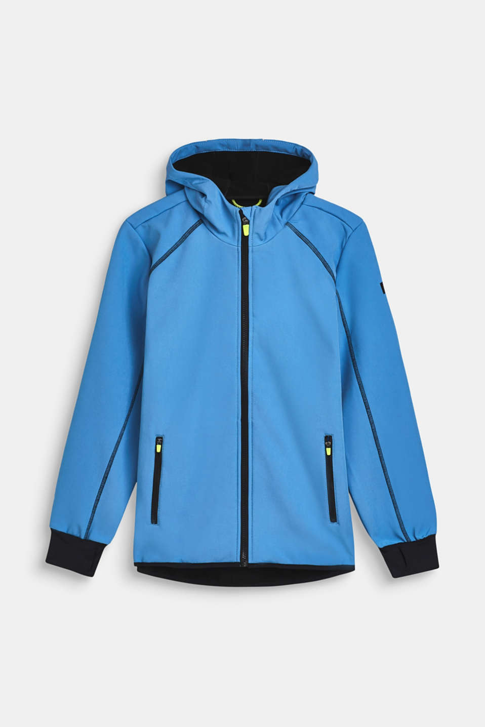 Softshell jacket with a hood, LCAZUR BLUE, detail image number 0