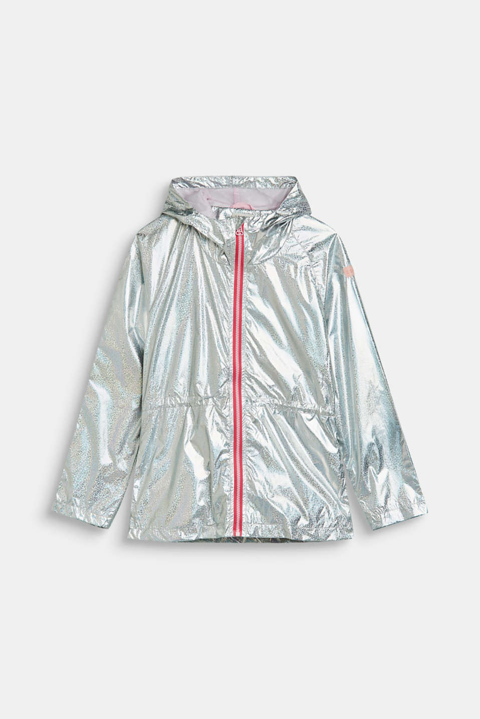 Esprit - Iridescent metallic parka with a mesh lining
