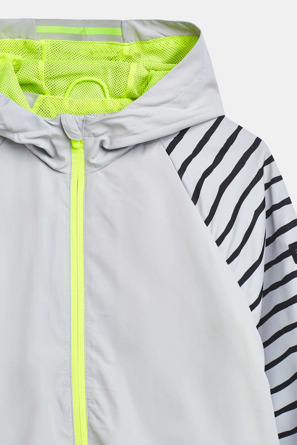 Lightweight hooded jacket with neon details, LCLIGHT GREY, detail image number 3
