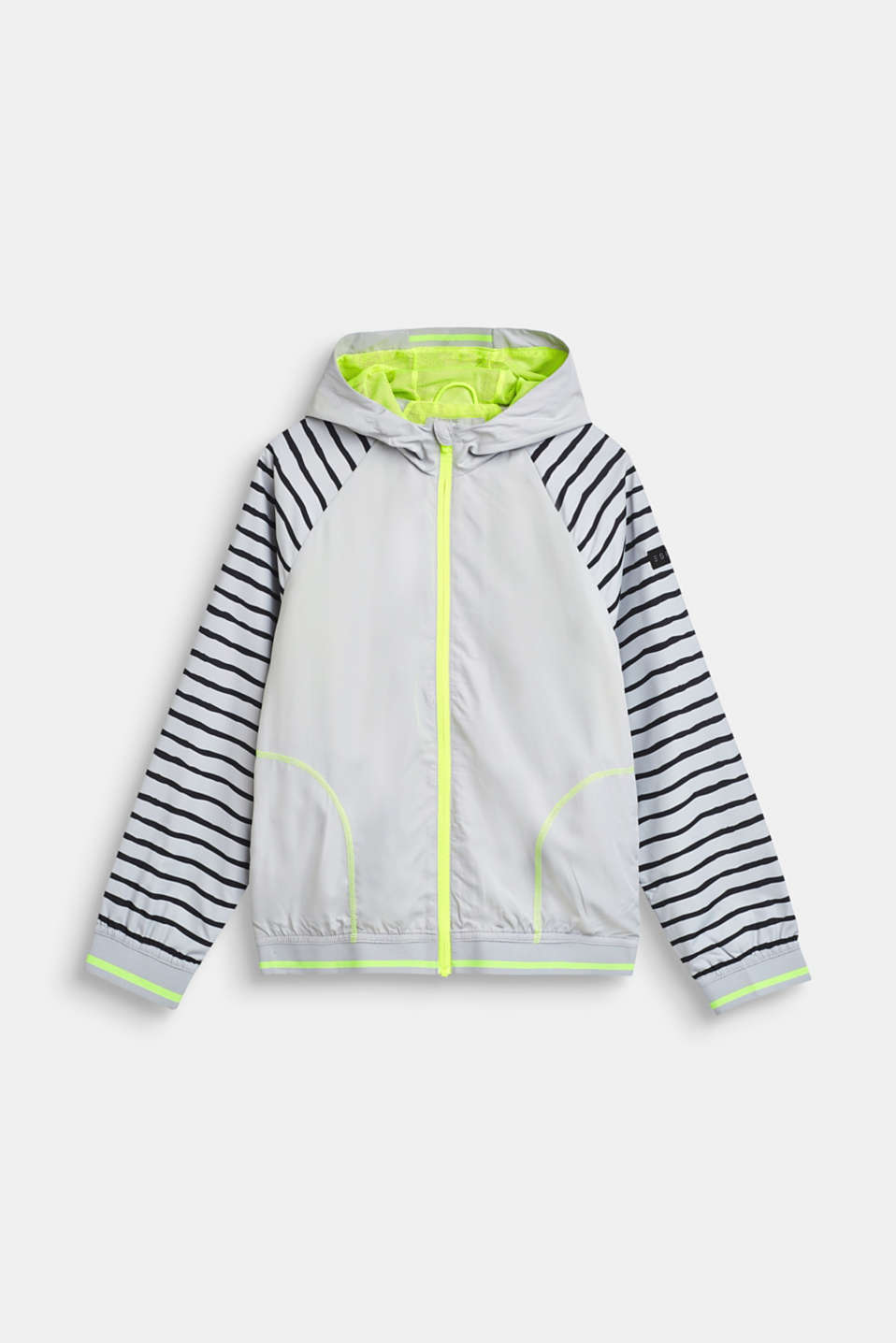 Lightweight hooded jacket with neon details, LCLIGHT GREY, detail image number 0