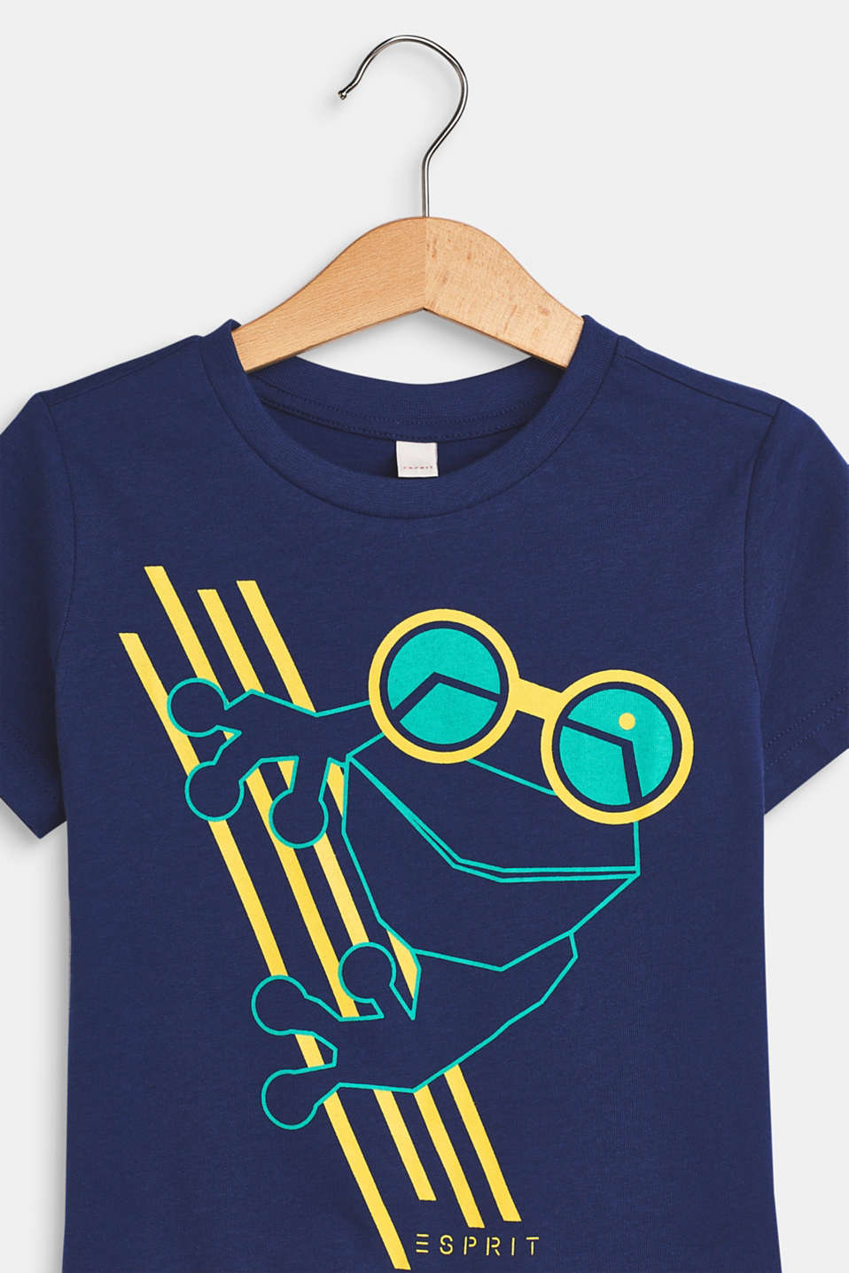 T-shirt with a frog print, 100% cotton, LCMARINE BLUE, detail image number 2