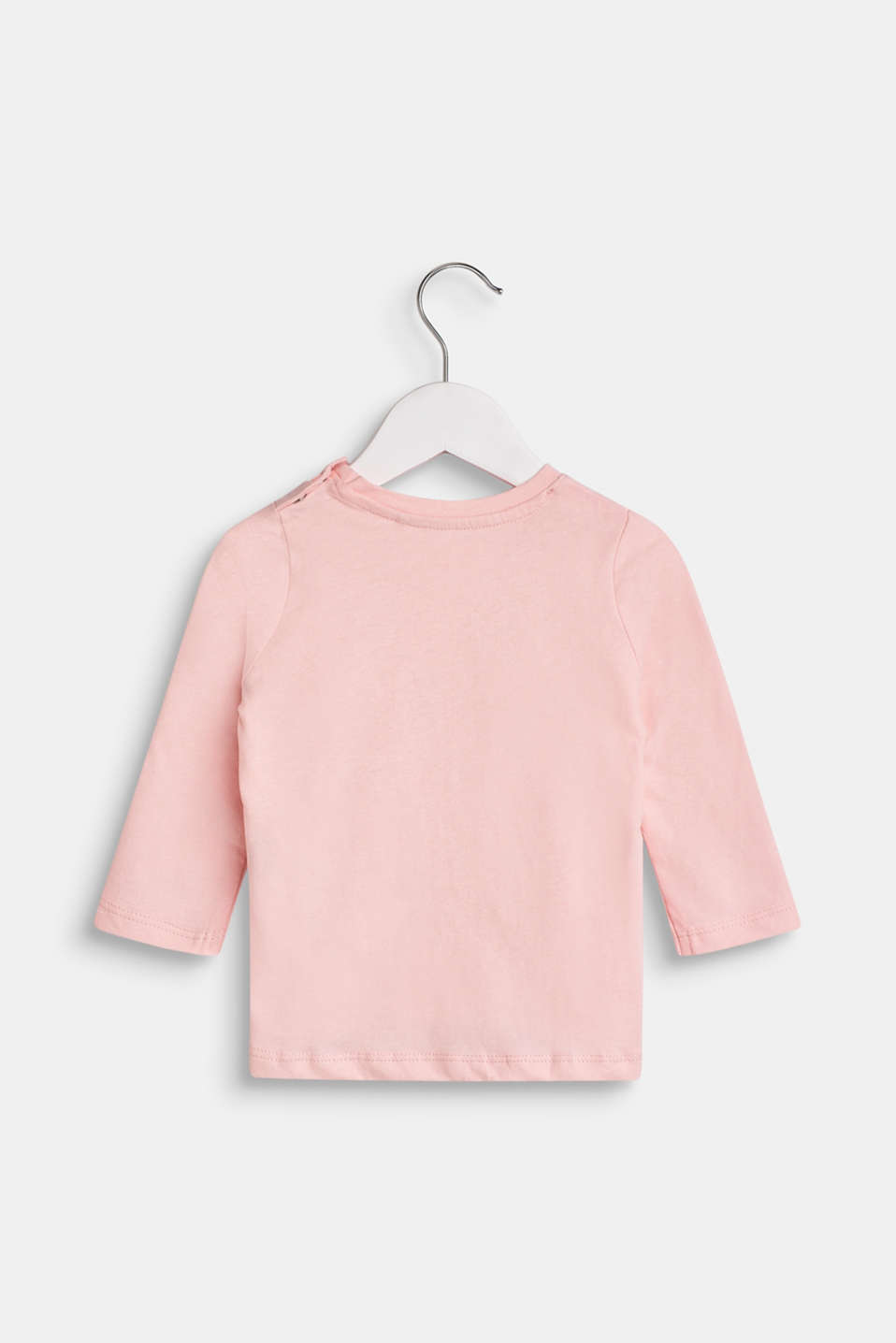 Long sleeve top with a front print, 100% cotton, LCTINTED ROSE, detail image number 1