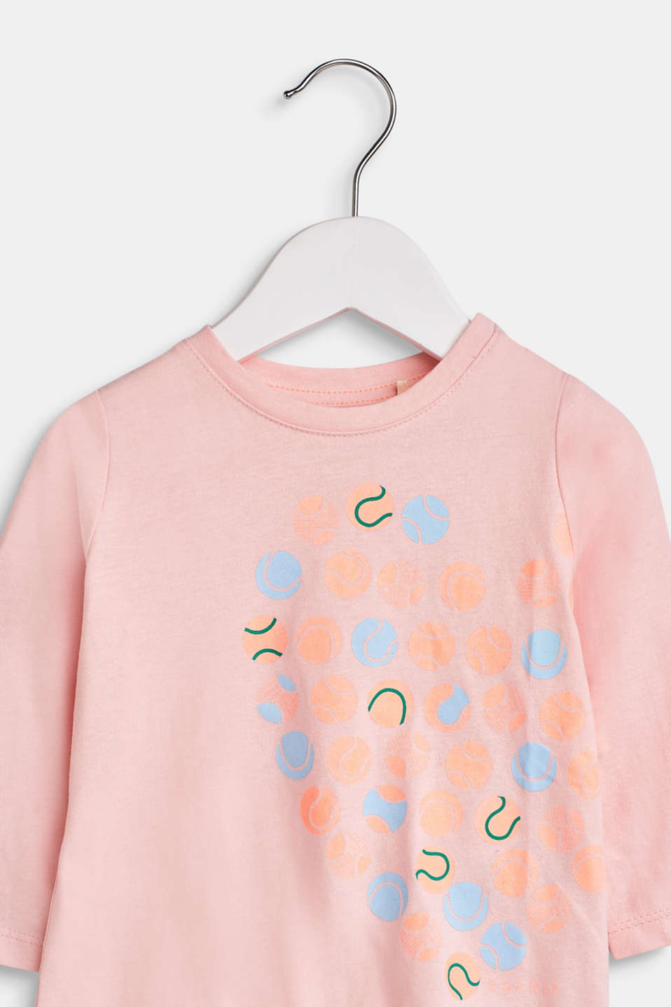 Long sleeve top with a front print, 100% cotton, LCTINTED ROSE, detail image number 2