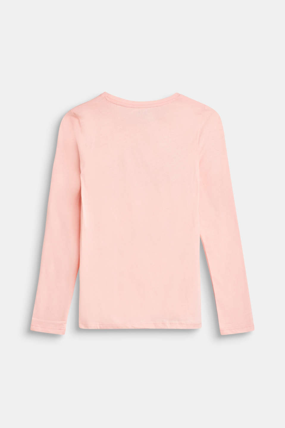 Long sleeve top with reversible sequins, 100% cotton, LCTINTED ROSE, detail image number 1