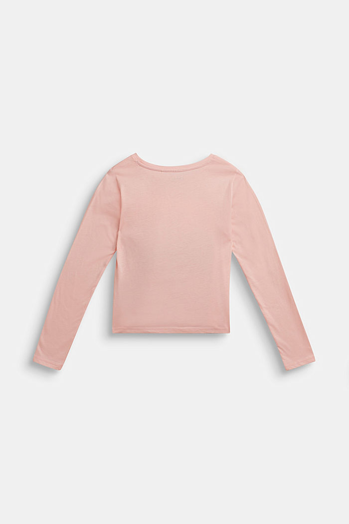 Glitter-Longsleeve, 100% Baumwolle, TINTED ROSE, detail image number 1