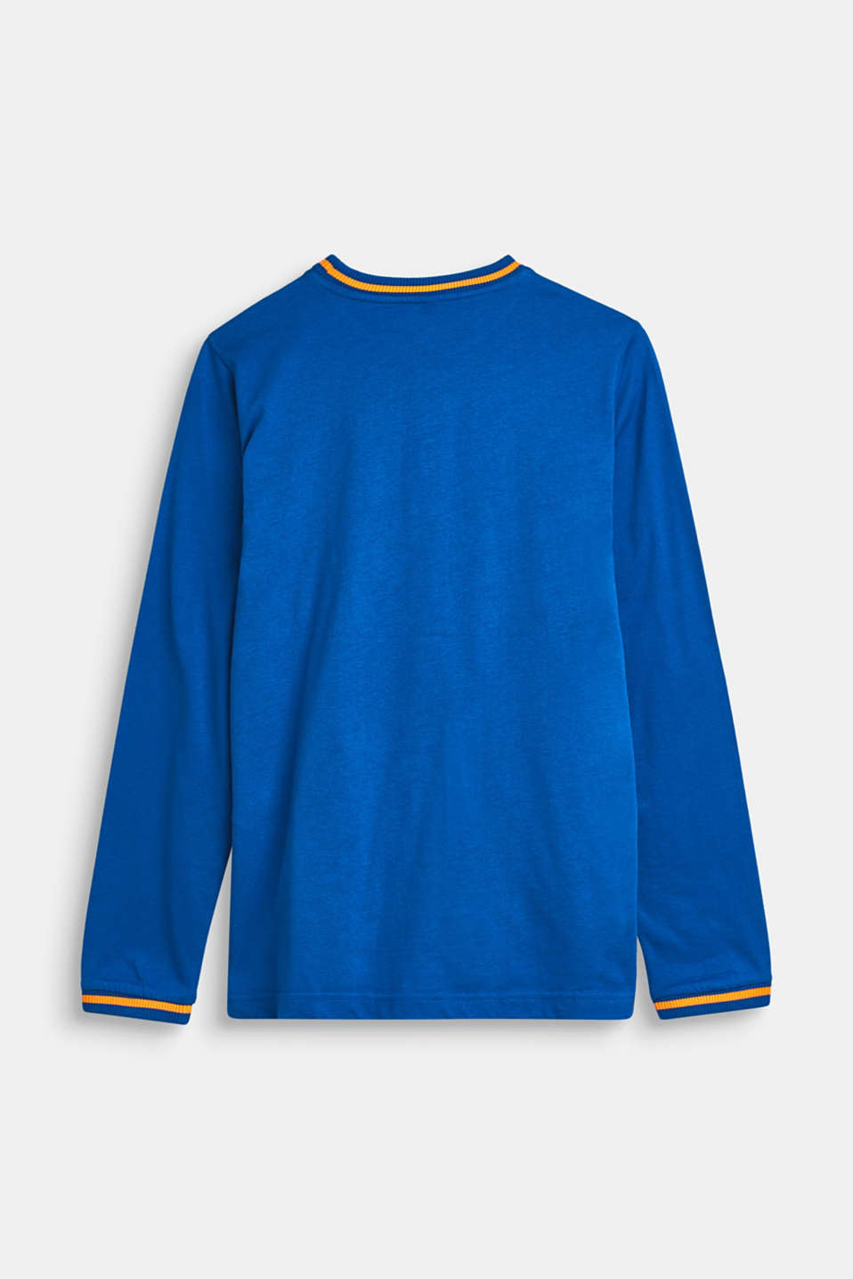 Long sleeve top made of 100% cotton, LCBRIGHT BLUE, detail image number 1