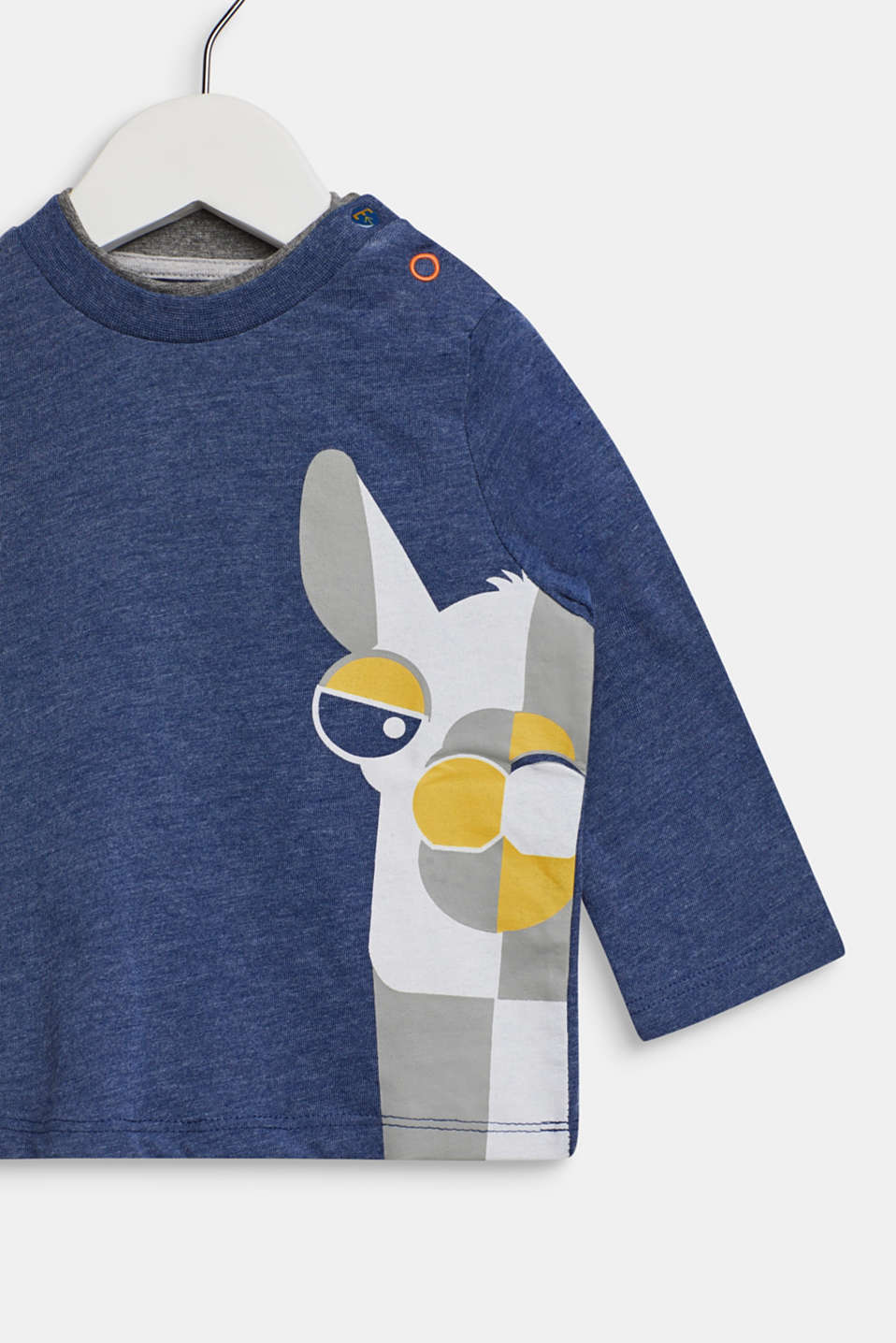 Long sleeve top with a llama print, LCINDIGO, detail image number 2